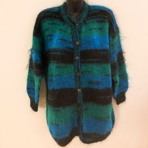 Sweaters - Hand made mohair oversized cardigan